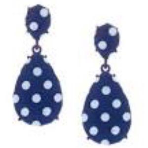 Polka Dot Drop Earrings